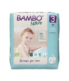 PAÑALES BamboNature Talla 3 M 4-8kg Paquete 28ud