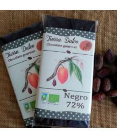 CHOCOLATE NEGRO 72 RepDom Tableta 95g TIERRA DULCE