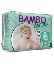 PAÑALES BAMBO Nature Talla 2 S 3-6kg 30uds