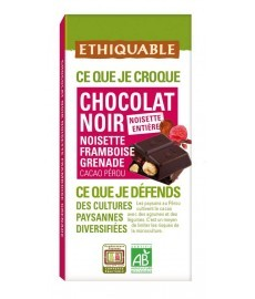 CHOCOLATE negro AVELLANAyFRAMB100gETHIQUABLE-IDEAS