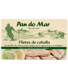 Filetes de CABALLA en ACEITE de OLIVA 120ml PAN DO MAR