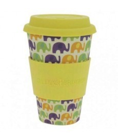 VASO reutilizable de BAMBU 400ml Mod Elephant Love